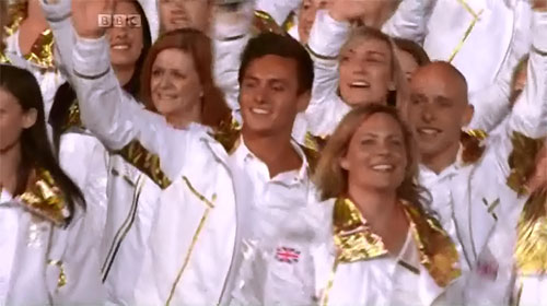 The entrance of TeamGB